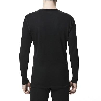 ブレスサーモアンダーウェアEXプラス    クルーネック長袖シャツ [メンズ] ブラック ・ M