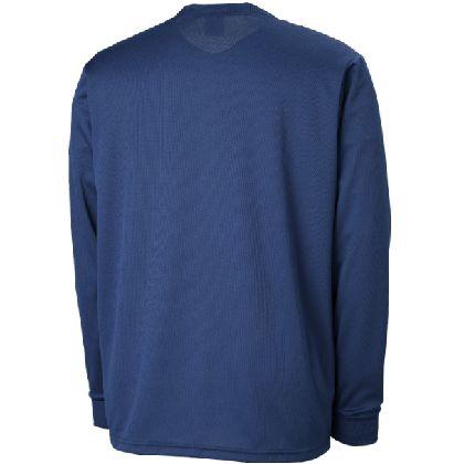 長袖Tシャツ[ユニセックス]ドレスネイビー×マゼンダ・XL