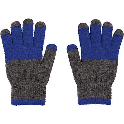 ブレスサーモ手袋 [ユニセックス] エボニー×ブルー