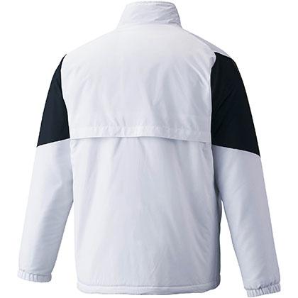 ブレスサーモ中綿ウォーマージャケット[ユニセックス] ホワイト ・ L