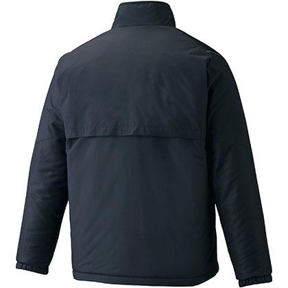 ブレスサーモ中綿ウォーマージャケット[ユニセックス] ブラック ・ 2XL