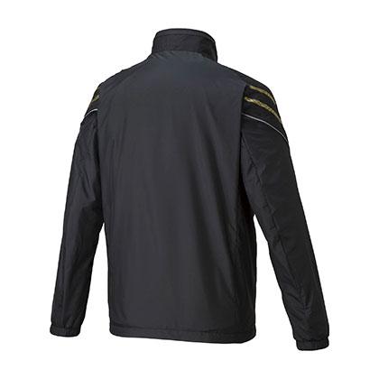 ブレスサーモウォーマージャケット[ユニセックス] ブラック×ゴールド ・ L
