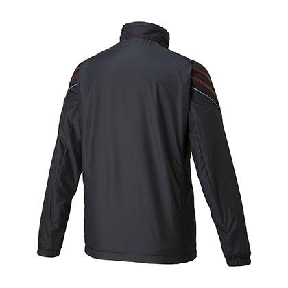 ブレスサーモウォーマージャケット[ユニセックス] ブラック×レッド ・ XL