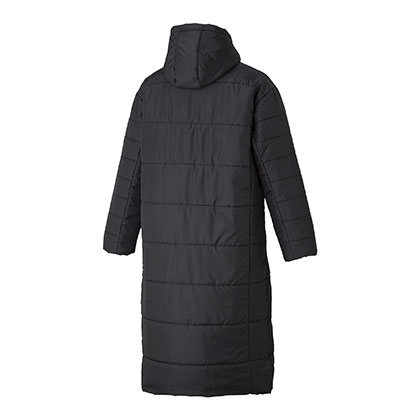 中綿ロングコート[ユニセックス]ブラック・L
