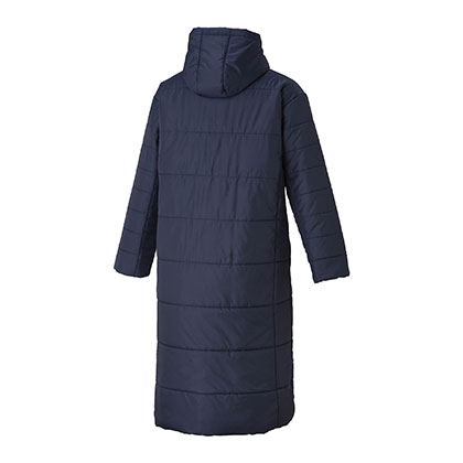 中綿ロングコート[ユニセックス]ネイビー・XL