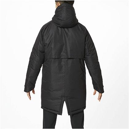 中綿ブレスサーモミドル丈コート[ユニセックス]ブラック・L