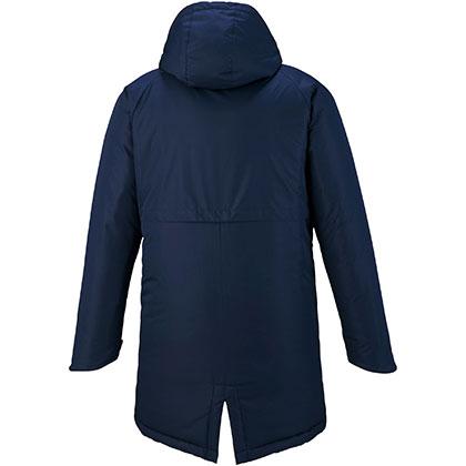 中綿ブレスサーモミドル丈コート[ユニセックス]ネイビー・XL