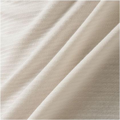 ブレスサーモ ボーダーハイネックシャツ[メンズ] プリスティンホワイト ・ XL