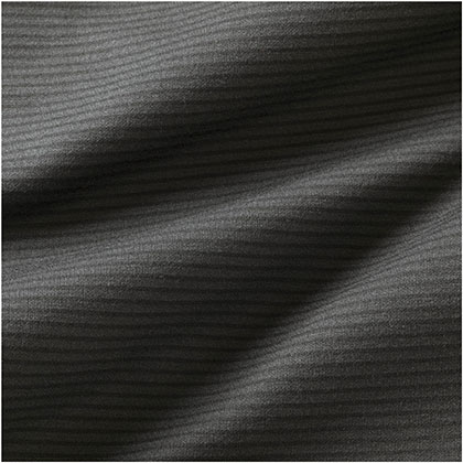 ブレスサーモ ボーダーハイネックシャツ[メンズ] チャコールグレー ・ L