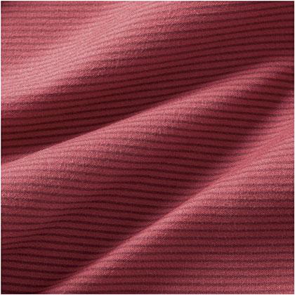 ブレスサーモ ボーダーハイネックシャツ[メンズ] カーディナルレッド ・ XL