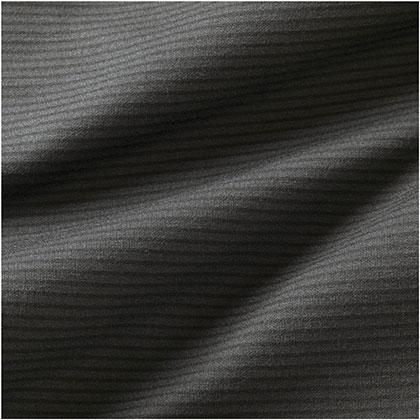 ブレスサーモ ボーダージップネックシャツ[メンズ] チャコールグレー ・ XL