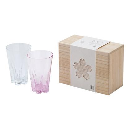 SAKURASAKU 紅白ペアタンブラー(木箱入)