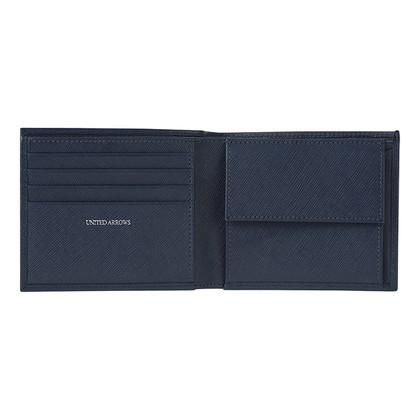 ユナイテッドアローズ 二つ折財布 ネイビー