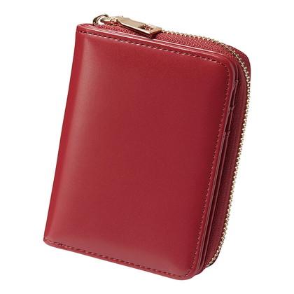 アーバンリサーチ ラウンドファスナー折財布 レッド