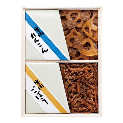 浅草今半 牛肉佃煮詰合せ(木箱)A