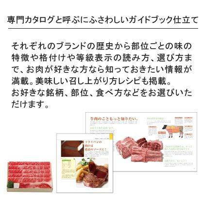 選べる国産和牛カタログギフト 溌剌コースP 写真入りメッセージカード(有料)込