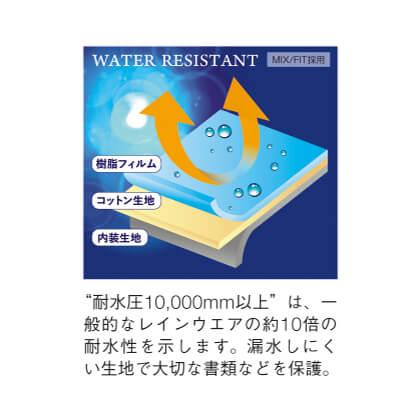 [エバウィン]撥水ビジネスリュック ネイビー