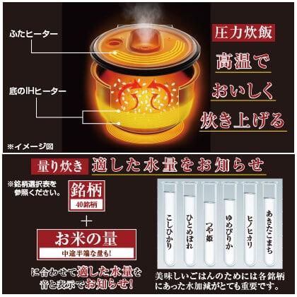 米屋の旨み 銘柄量り炊き 圧力IHジャー炊飯器(3合)