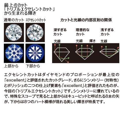 Pt 0.5ctダイヤモンドシンプルネックレス(45cm)