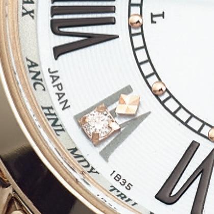 〈セイコー ルキア〉ソーラー電波腕時計(ベルト内周16.3cm)