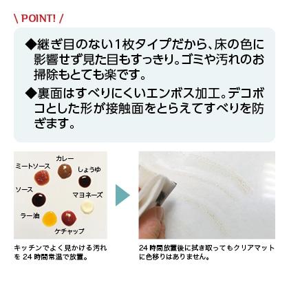 クリア透明キッチンマット 60×120