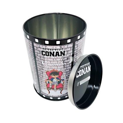 コナン/オリジナル輪ゴム入り ブリキ缶貯金箱ケースセット
