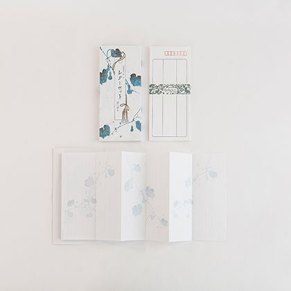 榛原 蛇腹便箋セット(七宝 千代紙箱入り)