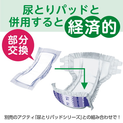 【ケース販売】アクティ 寝たまま交換テープ止め L-LLサイズ 17枚×4パック