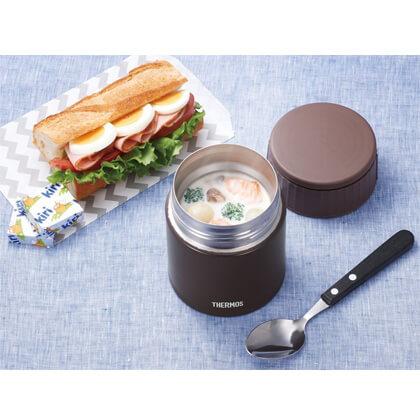 サーモス 真空断熱スープジャー 0.4L モカ 専用スプーン付