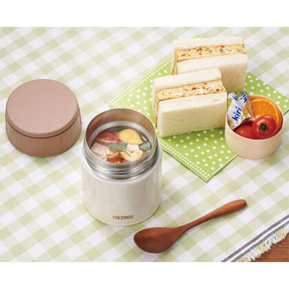サーモス 真空断熱スープジャー 0.4L ミルク 専用スプーン付
