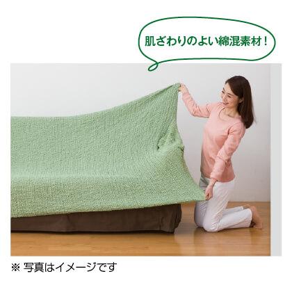 フィット式 ソファカバー 3人掛(ブラウン)