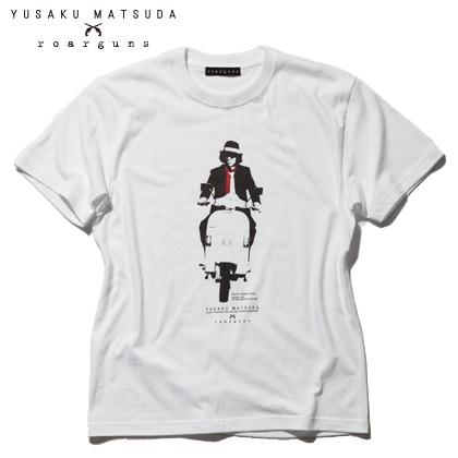 松田優作 生誕70周年記念「探偵物語」プレミアムフレーム切手セット YUSAKU MATSUDA×roarguns コラボTシャツ Aバージョン/S