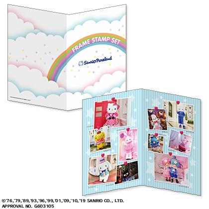 """サンリオピューロランド フレーム切手&""""Miracle Gift Parade""""ポストカード(6枚セット)"""