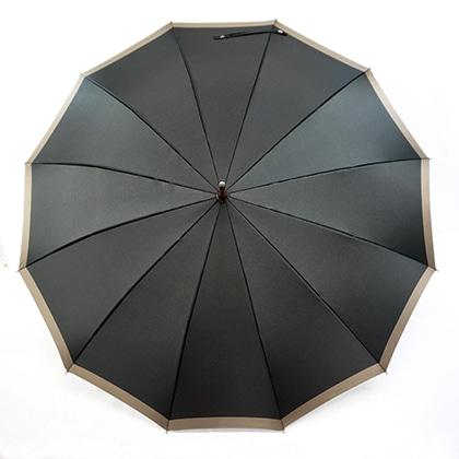 雅桜組ひも長傘 ブラック/ブラウウン