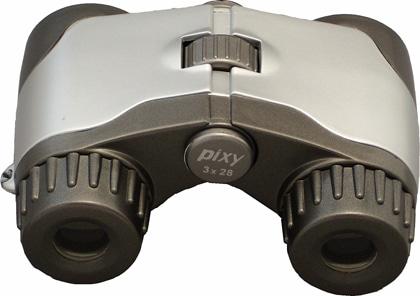 PIXY オペラグラス 3X28 シルバー