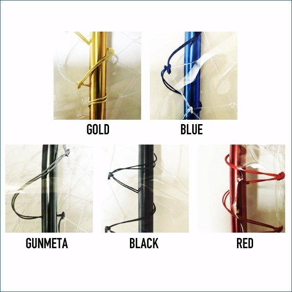 アズーロ ランディングフレーム スタウト 4つ折り 55cm×70cm ブラック 釣り タモ 網 フレーム コンパクト ランディングネット