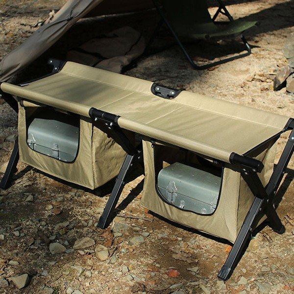 DOD ストレージベンチ ブラック/カーキ FS2-246M チェア ベンチ ドッペルギャンガー