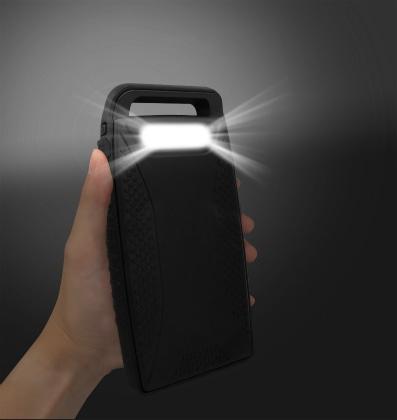 ソーラー&モバイルバッテリー10000mAh・LED照明付[MB-SO10000 BK]