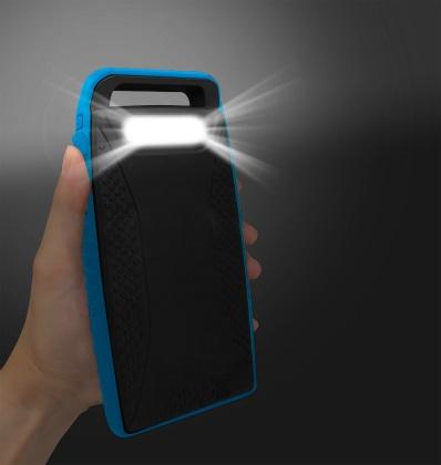 ソーラー&モバイルバッテリー10000mAh・LED照明付[MB-SO10000 BL]