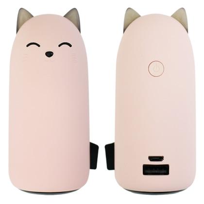 ネコちゃん型モバイルバッテリー 5000mA ピンク [MB-CAT5000 PK]