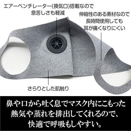 【お得な5枚セット】nismo エアベンチレーターマスク グレー [NM-MASK GY]