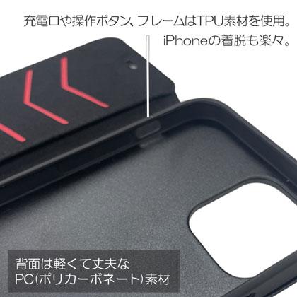 nismo アルカンターラ&本革手帳型ケース for iPhone12 Pro Max [NM-P20L-B2 BK]