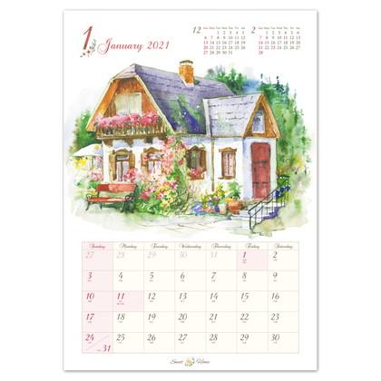 CAL−18 2021版カレンダースウィートホーム L