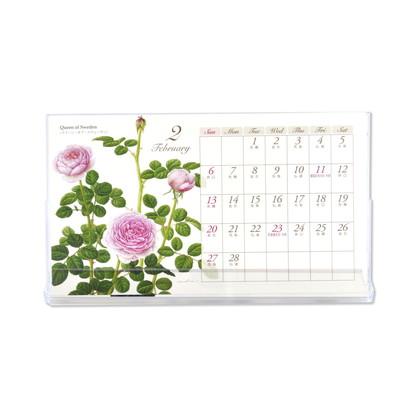 CAL−054  2022年版カレンダー クラシックローズ 卓上