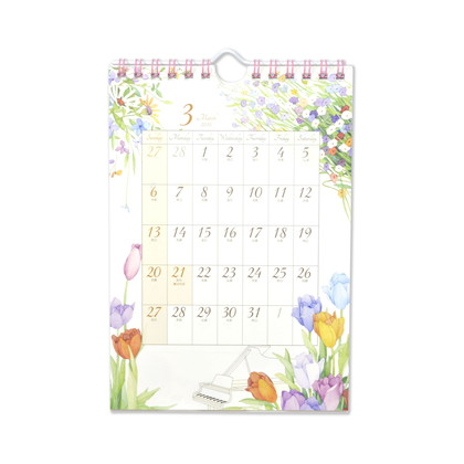 CAL−056  2022年版カレンダー モダンフラワー S