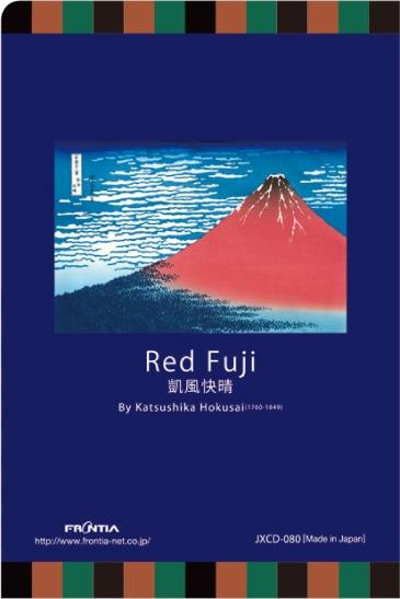 JXCD−080クリアフォルダカード 赤富士