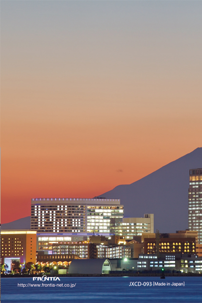 JXCD−093クリアフォルダカード 横浜夕暮れ富士山