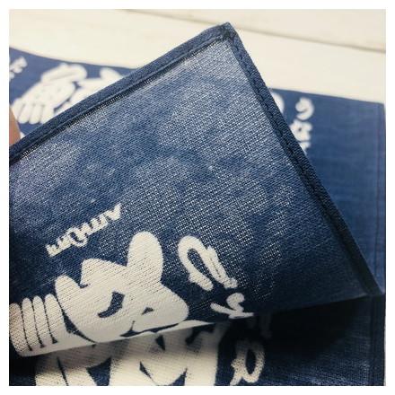 HKC−001木綿はんかち 寿司文字 白