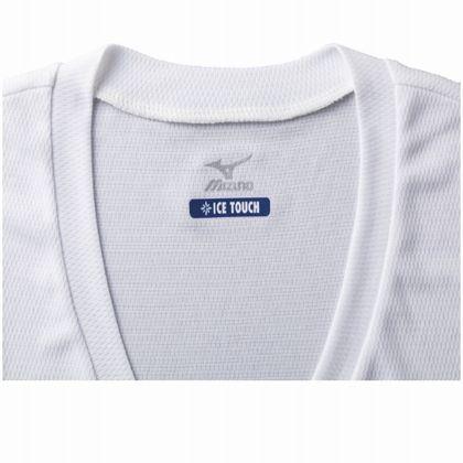 アイスタッチクイックドライアンダーVネック半袖(汗染み対策/脇パット付き)[メンズ] ホワイト・L