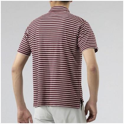 ドライベクターボーダーポロシャツ[メンズ] ダークレッド・M